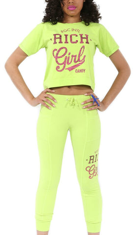 RGC Neon Joggers with Logo