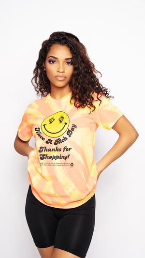 Orange Lemon Tie Dye Tee
