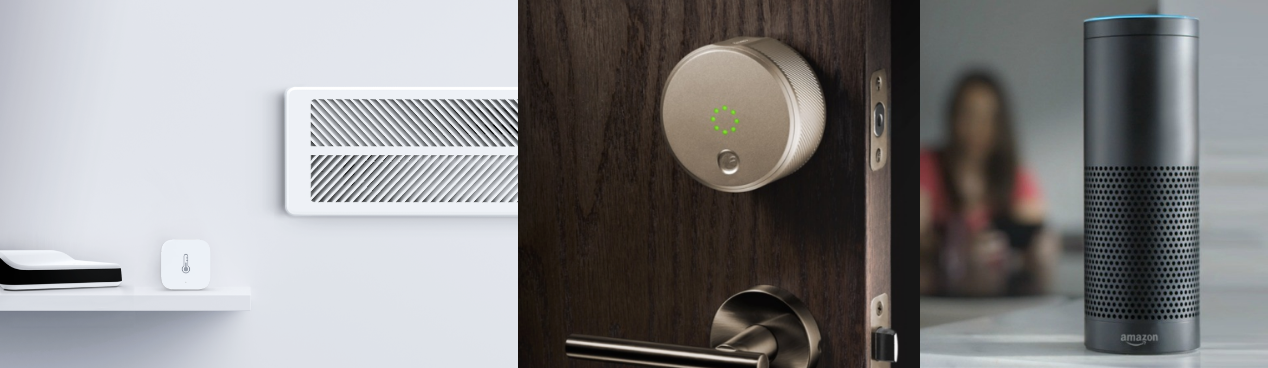 Keen Home Smart Vent, August Smart Lock, Amazon Alexa