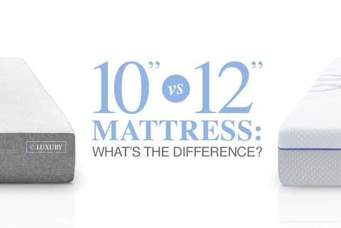 10 Inch Gel Memory Foam Mattress Vs. 12 Inch Memory Foam Hybrid Mattress
