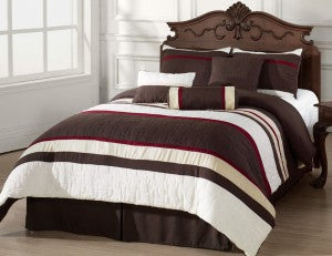 Our Mosaico comforter features warm colors perfect for the fall season.