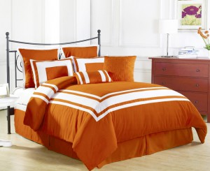 The Lux Decor comforter set offers great contrast.
