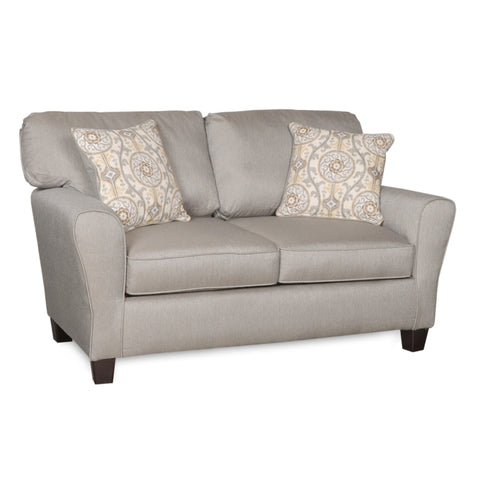 Living Room Love Seat Sofa with Accent Throw Pillows in Various Designs