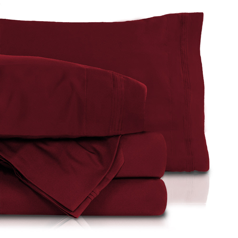 New Sale ! Burgundy Solid ! Sheet Set 100/% Egyptian Cotton Fit Sizes 1000TC