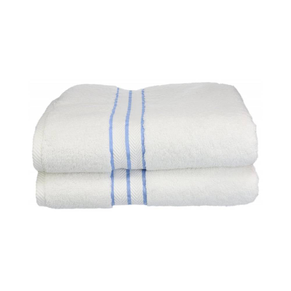900 GSM Hotel Collection 2-Piece Long Staple Combed Cotton Bath Towel Set