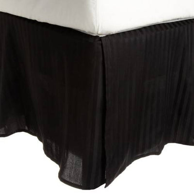 Striped 100% Cotton 300 Thread Count Solid Bed Skirt