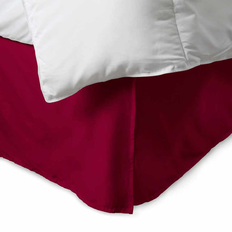 100% Cotton 300 Thread Count Solid Bed Skirt
