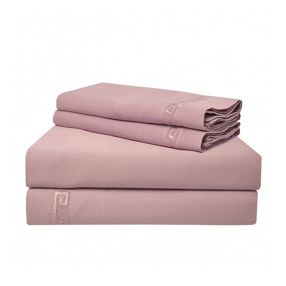 600 Thread Count Greek Key Cotton Sheet Set