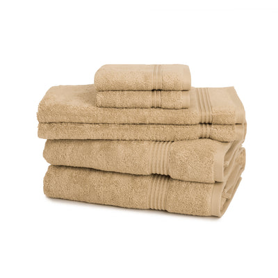600 GSM 6-Piece Long Staple Combed Cotton Towel Set