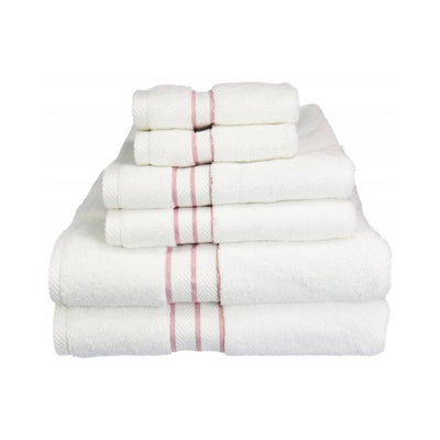 900 GSM Hotel Collection 6-Piece Long Staple Combed Cotton Towel Set