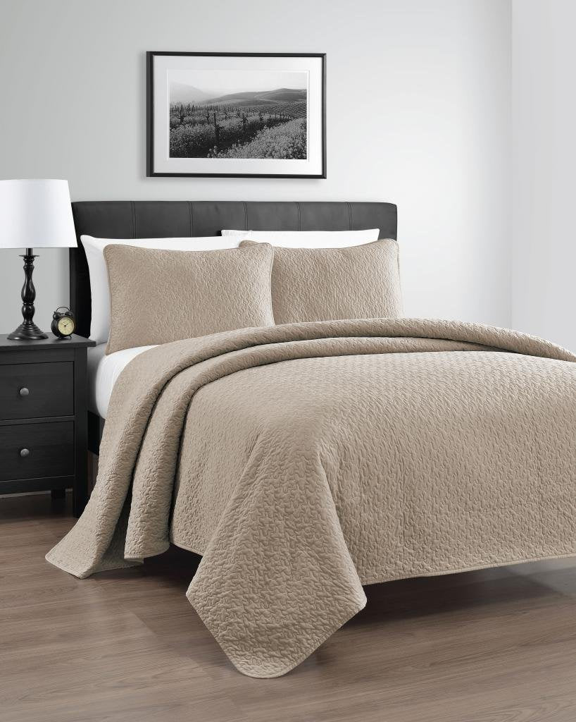 Zaria 3 Piece Quilt Coverlet Set Eluxury