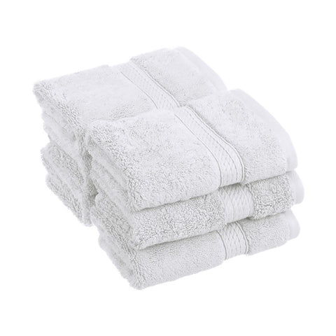 900 GSM 6-Piece Long Staple Combed Cotton Face Towel Set