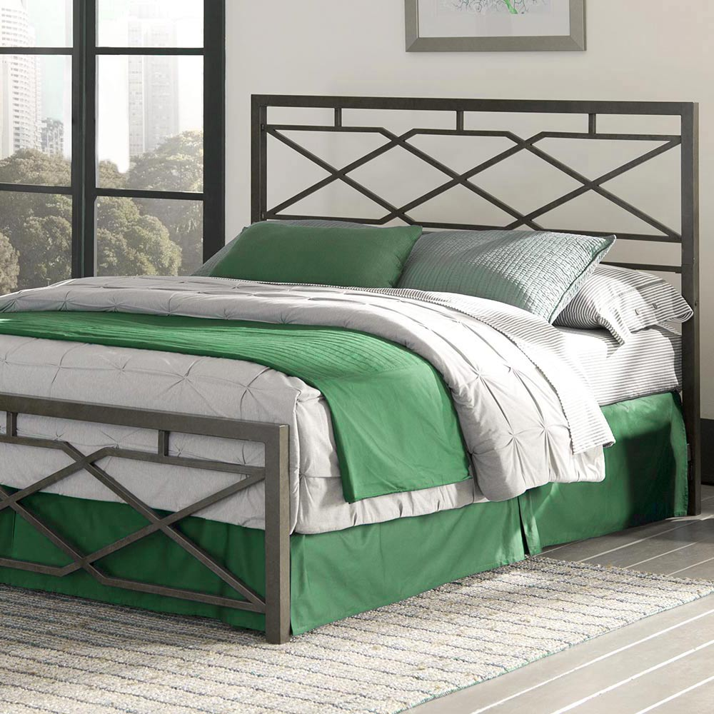 Metal Bed Frame - Geometric Style Platform Metal Bed Frame Foundation