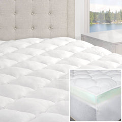 Double Thick 2-Piece Bamboo Mattress Pad & Comfort Topper