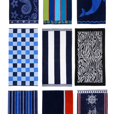 Cotton Beach Towel - Various Styles & Designs