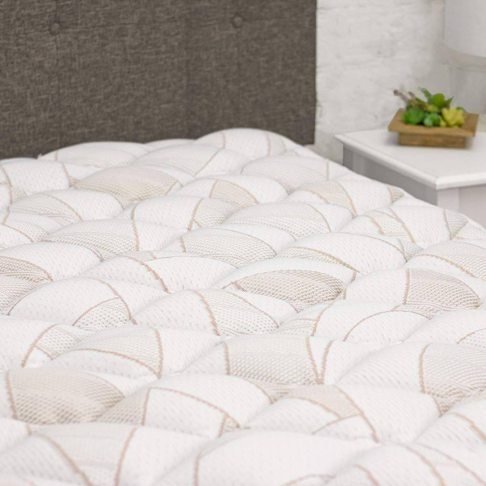 Copper Infused Mattress Pad with Fitted Skirt