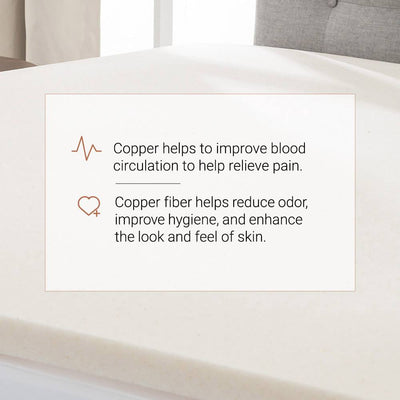 Copper Infused Memory Foam Mattress Topper