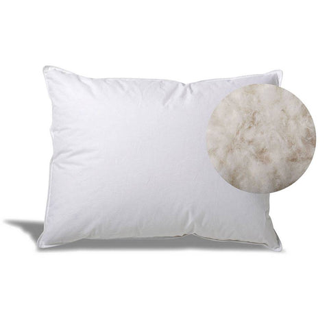 Hotel White Goose Down Pillow for Side/Back Sleepers - Made in the USA