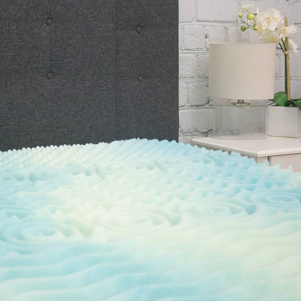 Five Zone Convoluted Memory Foam Mattress Topper