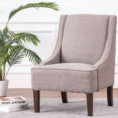 Modern Swoop Accent Chair