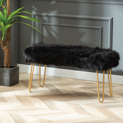 Faux Fur Ottomans