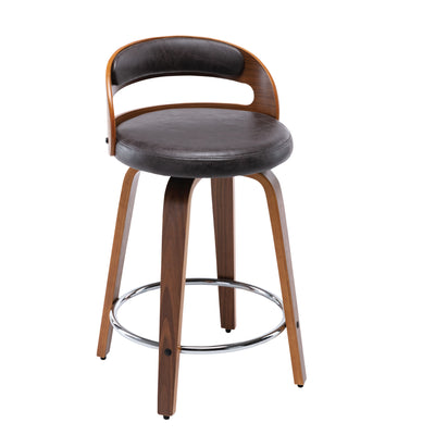 Modern Barrel Swivel Counter Stool