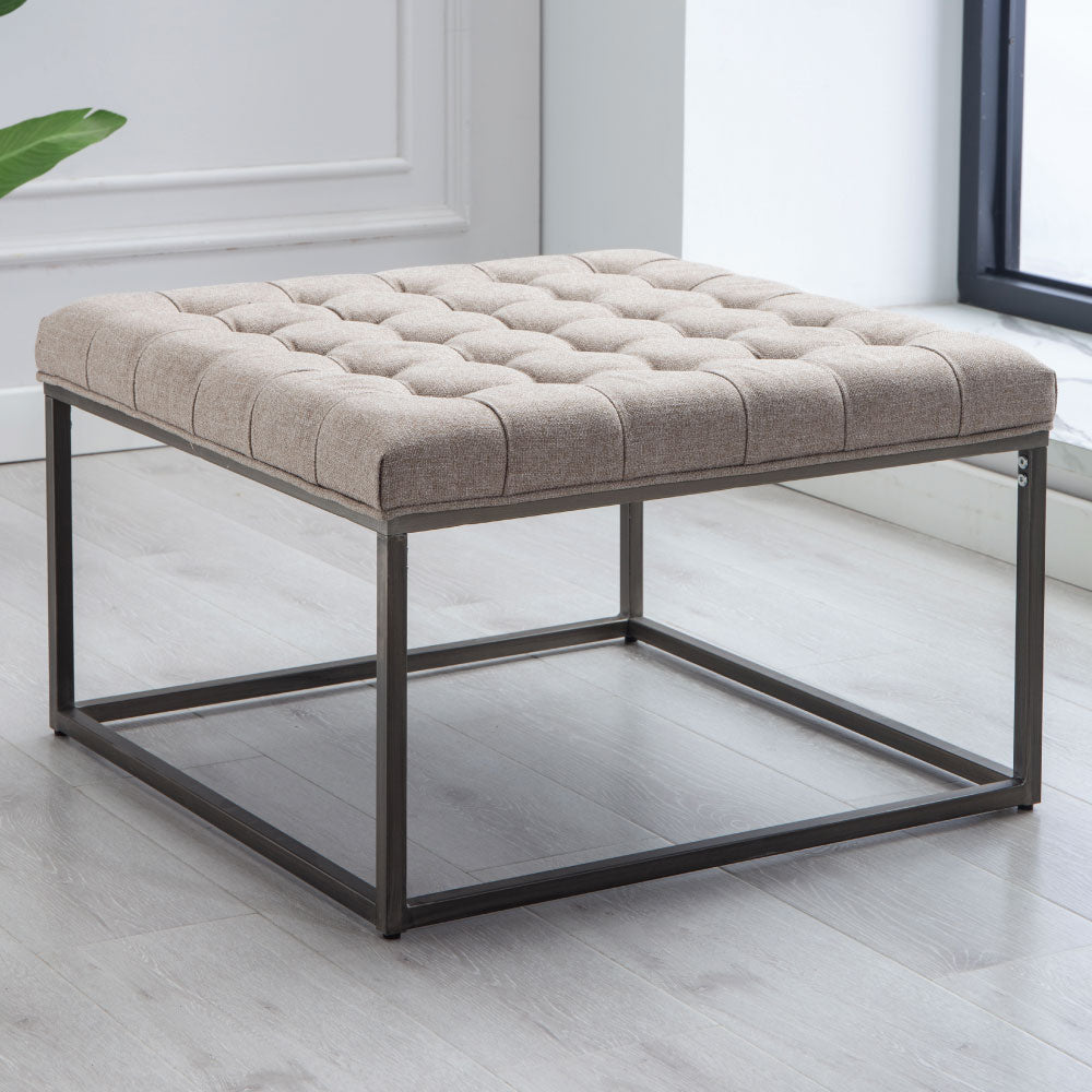Modern Square Ottoman Footrest Stool