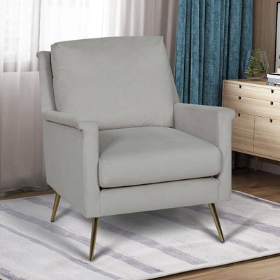 Traditional Rollarm Accent Chair