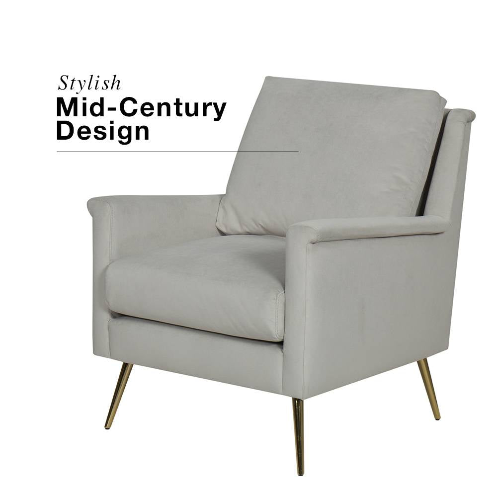 Modern Rollarm Accent Chair