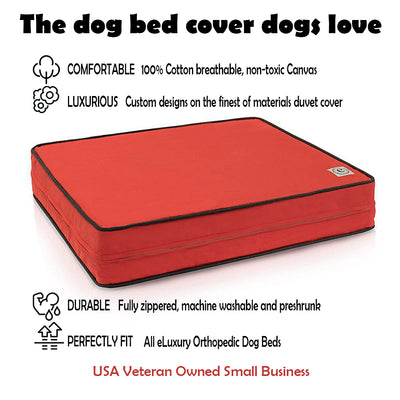 100% Cotton Canvas Replacement Dog Bed Duvet Cover