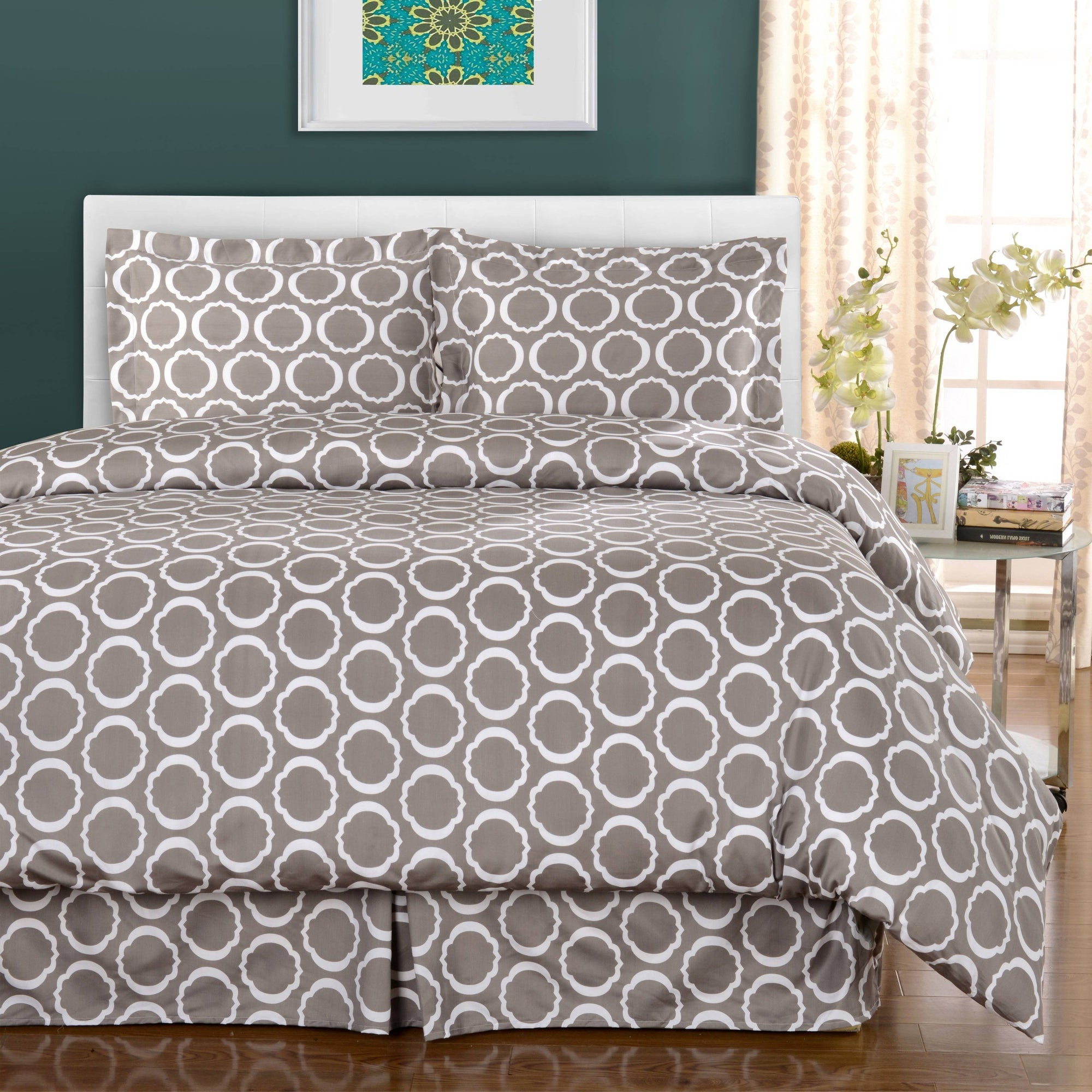 600 Thread Count Cotton Blend Scroll Park Duvet Cover Set