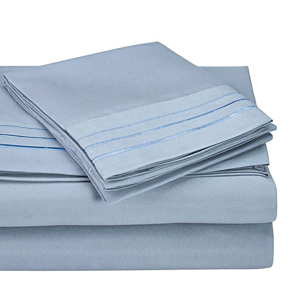 3000 series microfiber sheet set with 3-line embroidery
