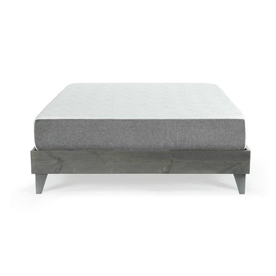"Mattress (10"" Gel Memory Foam or 12"" Latex Hybrid) & North American Pine Platform Bed Combo"