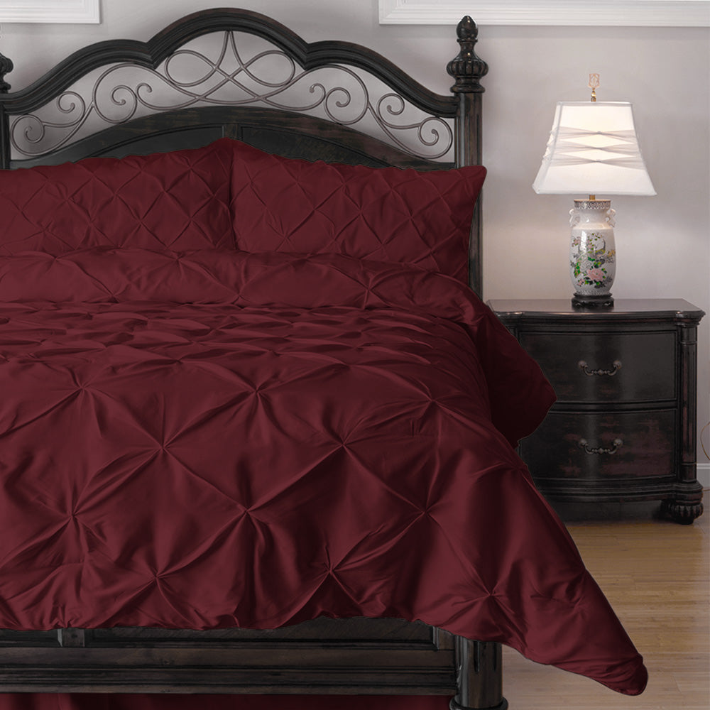 burgundy comforter perris maroon king piece gold sets set