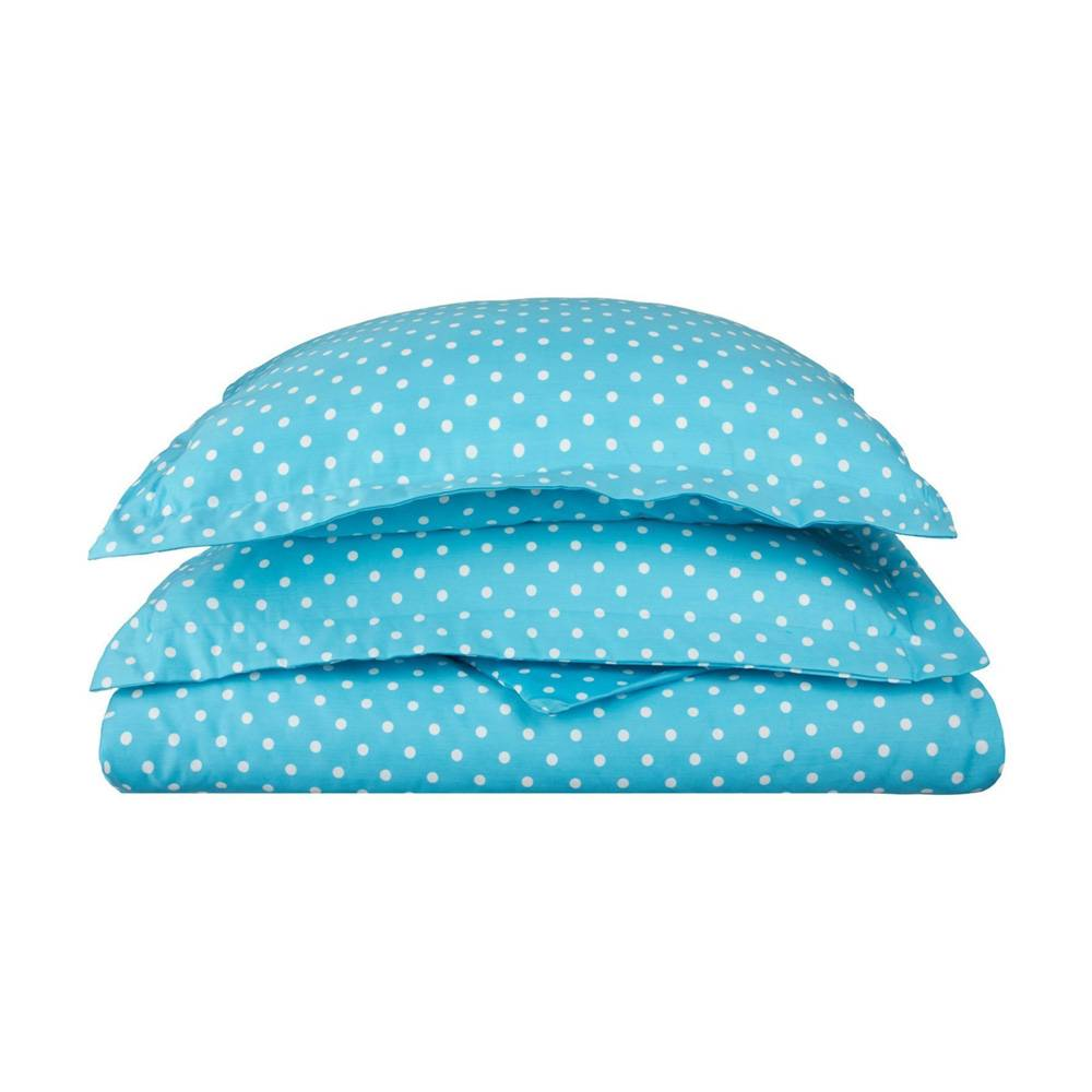 600 Thread Count Cotton Blend Polka Dot Duvet Cover Set