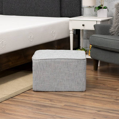 Square Floor Pouf for Kids or Adults - Plush Foam Seat / Ottoman