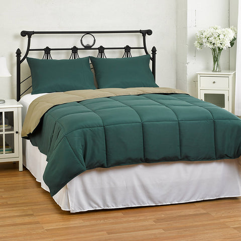 Lightweight Reversible Down Alternative Summer Comforter Set