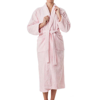 Terry Cloth Robe - Pink - Female Model