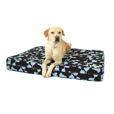 "Brown/Blue 5"" Thick Soft/Firm Reversible Gel Memory Foam Orthopedic Dog Bed"