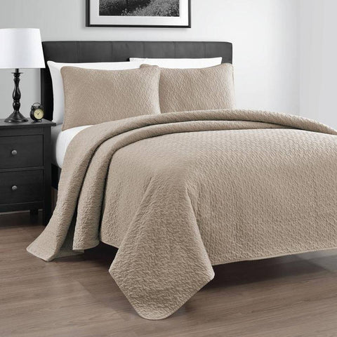 Zaria 3-Piece Heavy Quilt / Coverlet Set - Fall/Winter
