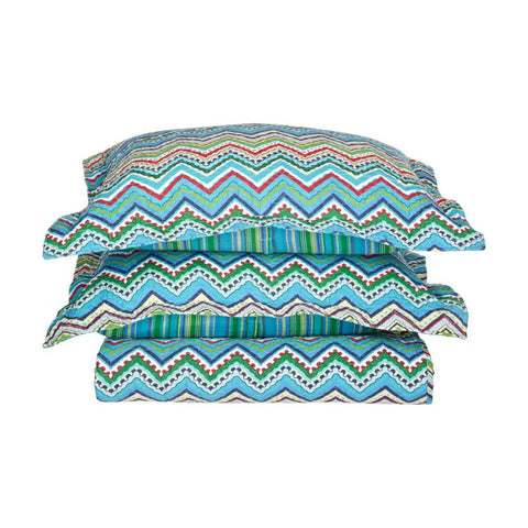 3-Piece Zig-Zag 100% Cotton Quilt Set