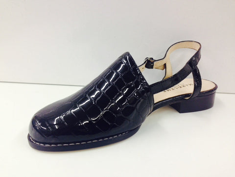 Ros Hommerson Cathleen Black Croc (Slingshot) - Simply Wide - 1