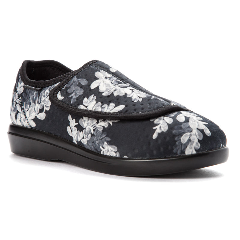 Propet Women Cush'n Foot W0206 (Black Floral)