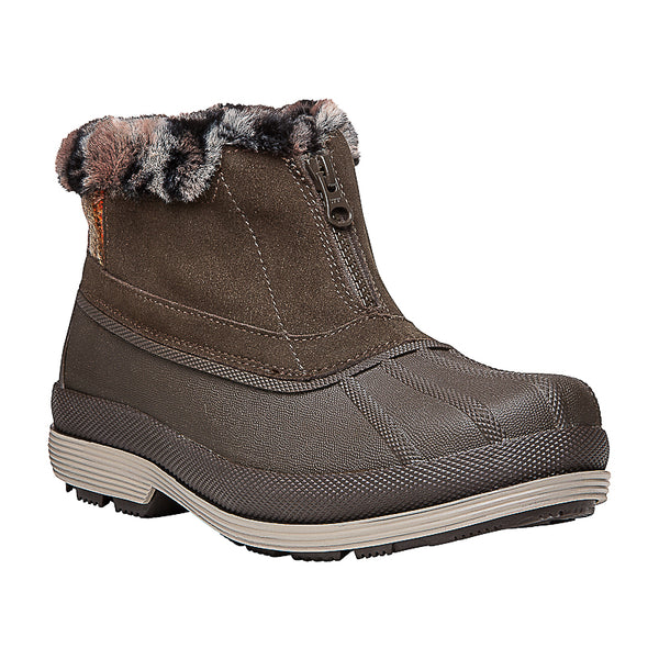 Lumi Ankle Zip WBX012S (Brown)