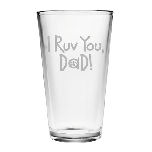 I Ruv You, Dad Pint Glasses (Set Of Four)