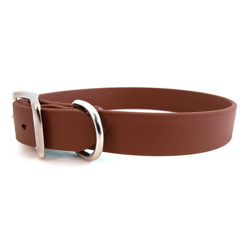 Rita Bean Waterproof Standard Buckle Dog Collar - Brown