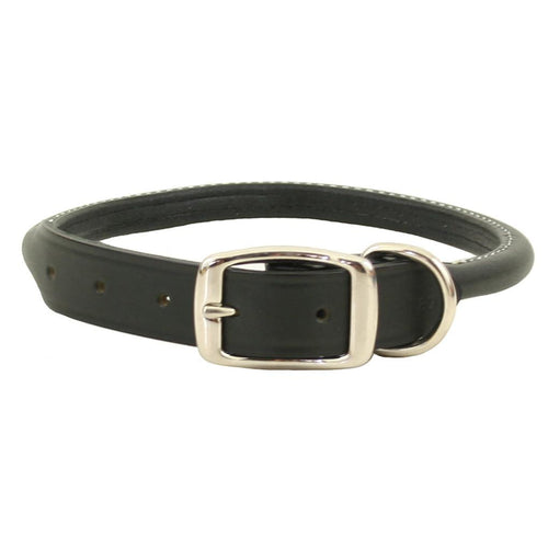 Rita Bean Super Soft Rolled Leather Dog Collar - Black