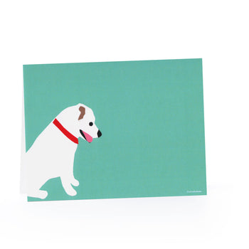 Happy Dog Blank Card Set (White Dog) - 6 Pack