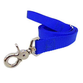 Rita Bean Dog Leash - Nylon Webbing (Royal Blue)