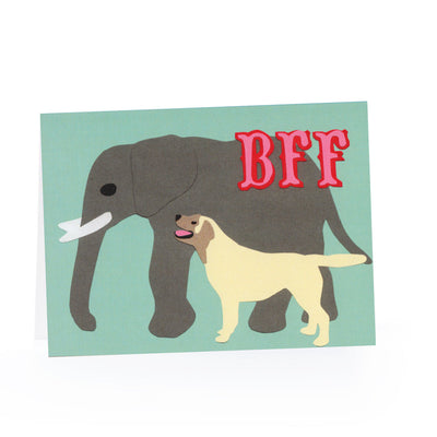BFF Blank Card (Elephant and Dog)